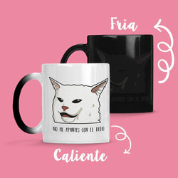 Taza Cambia Color Gato