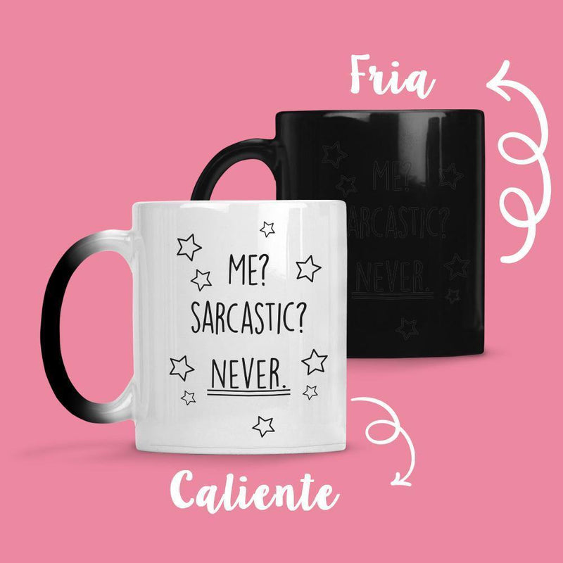 Taza Cambia Color Sarcastic - Space Store Chile