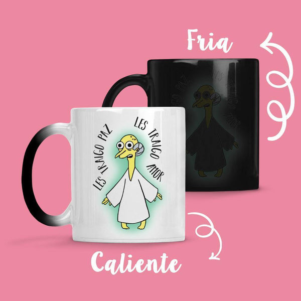 Taza Cambia Color Les Traigo Paz - Space Store Chile
