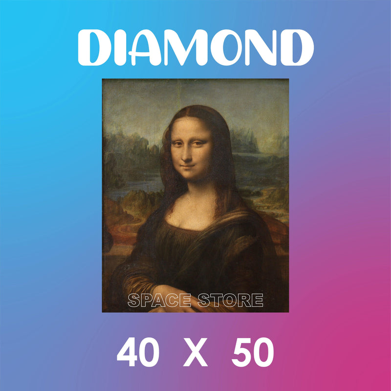Diamond Mona Lisa Da Vinci 40X50
