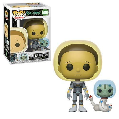 Funko pop Space Suit Morty with snake