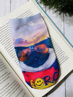 Socks Pug Sunset - Space Store Chile