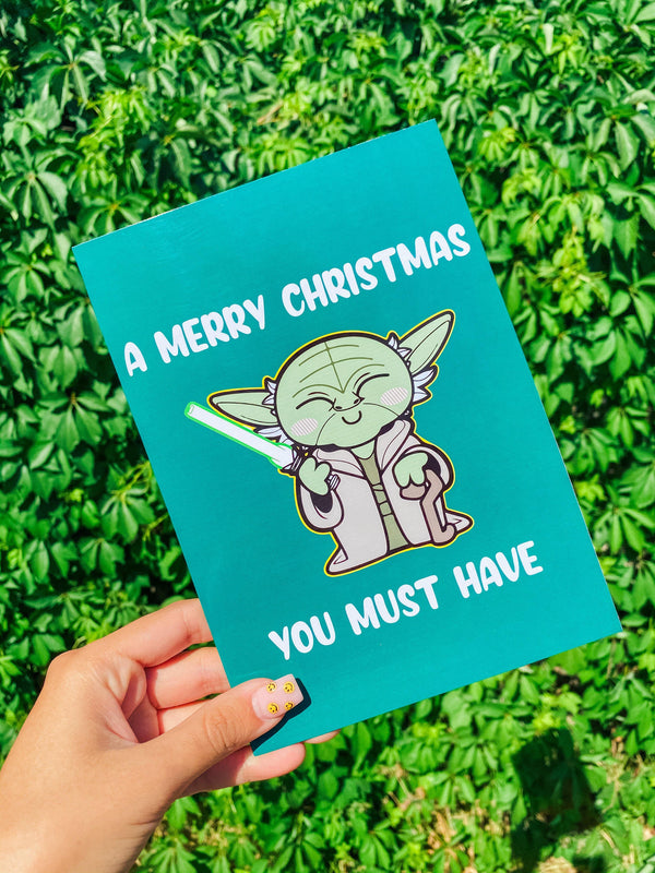 Tarjeta Yoda A Merry Christmas You Must Have