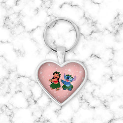 Llavero Corazon Lilo & Stitch Dacing - Space Store Chile