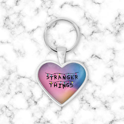 Llavero Corazon Stranger Things Degrage - Space Store Chile