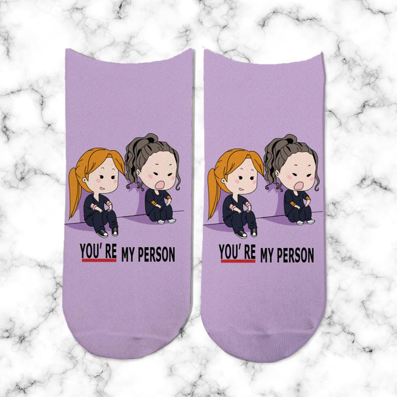 Socks Greys Anatomy Lila