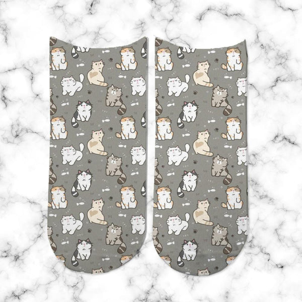 Socks Gatos Gris