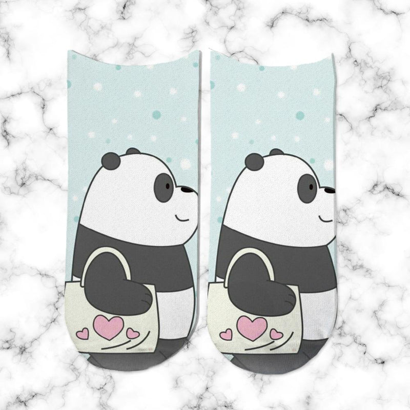 Socks Panda Heart Bag - Space Store Chile