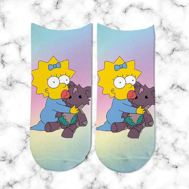 Socks Maggie Simpsons Rainbow - Space Store Chile