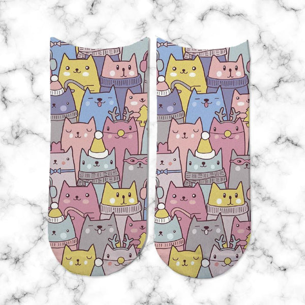 Socks Winter Cats