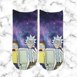 Socks Rick & Morty Nebulosa Morada - Space Store Chile