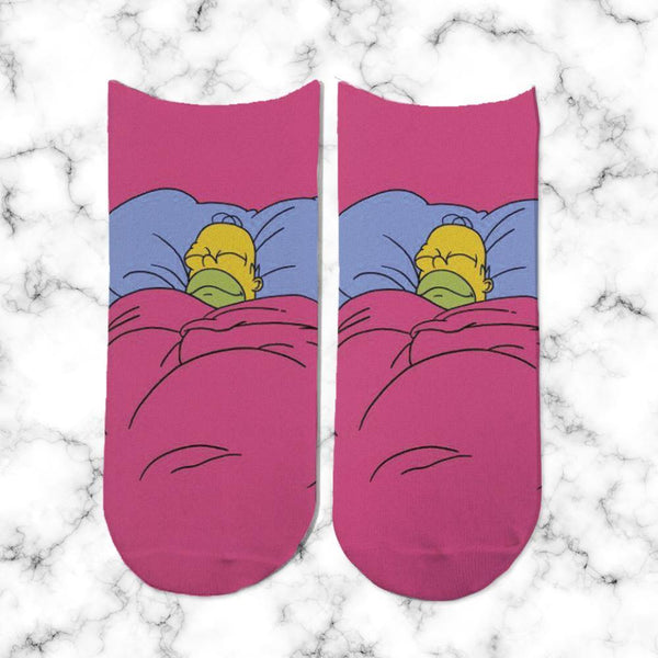 Socks Homero Durmiendo - Space Store Chile
