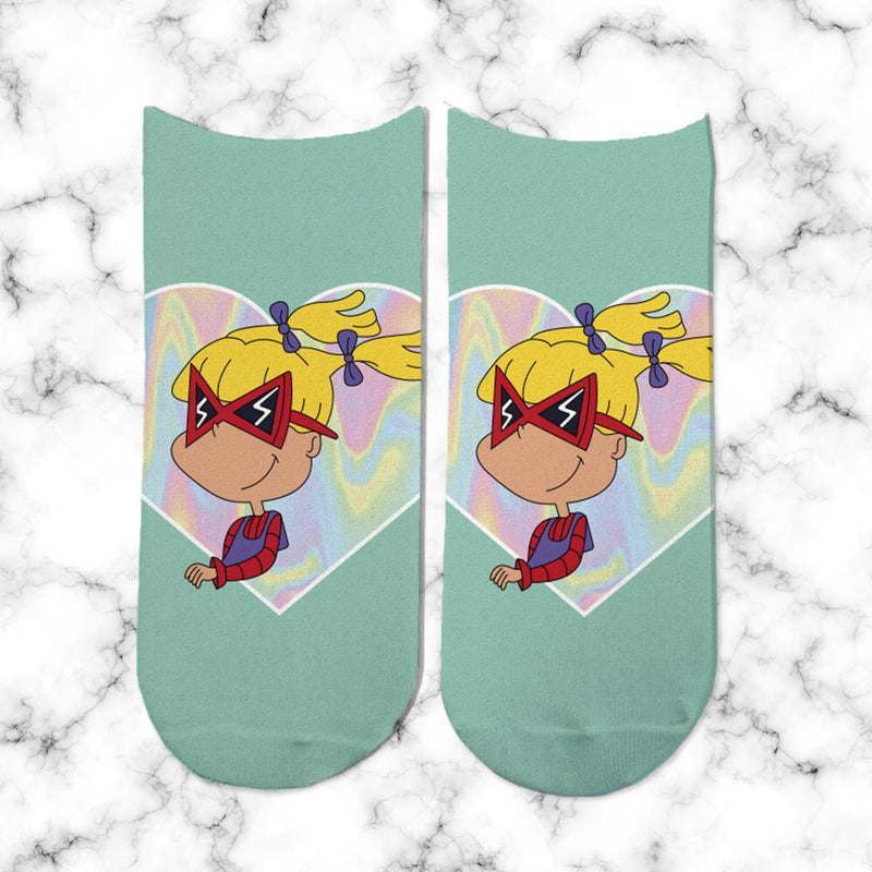 Socks Angelica Heart Holografico - Space Store Chile