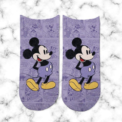Socks Mickey Clasico Purple - Space Store Chile