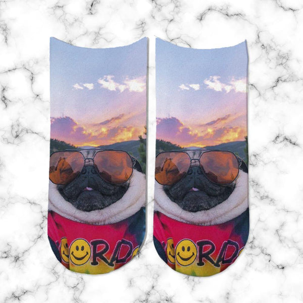 Socks Pug Sunset
