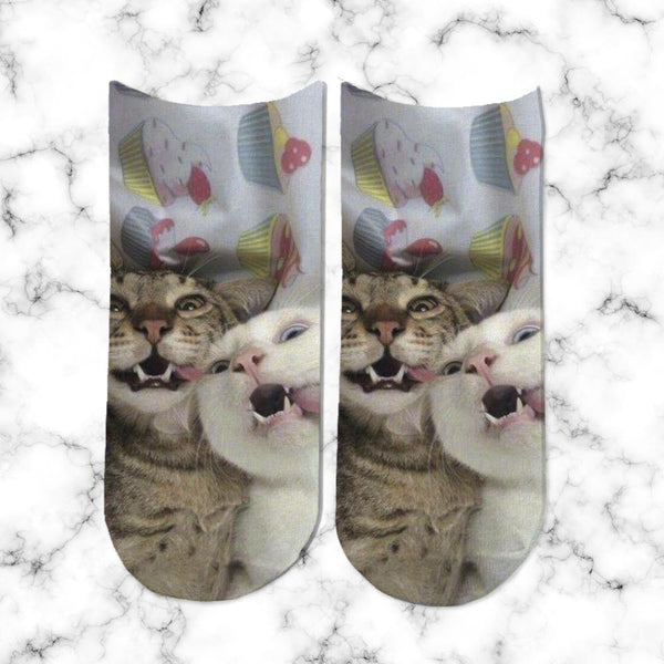 Socks Gatos Locos - Space Store Chile