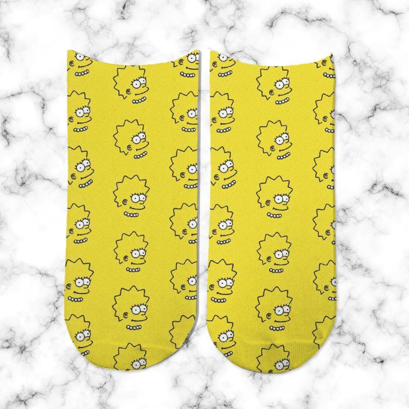 Socks Lisa Simpsons Head Patron - Space Store Chile
