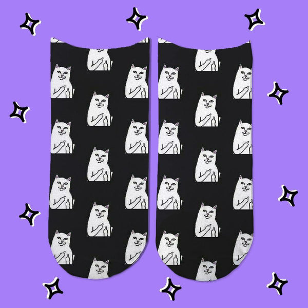 Socks Gato Dedo Patron - Space Store Chile
