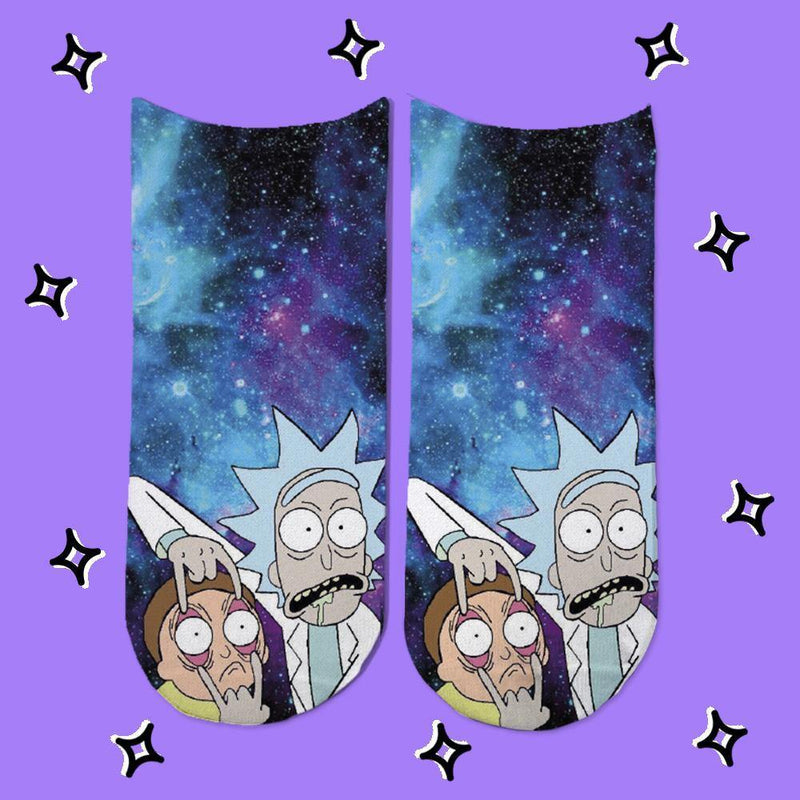Socks Rick and Morty Nebulosa Azul - Space Store Chile