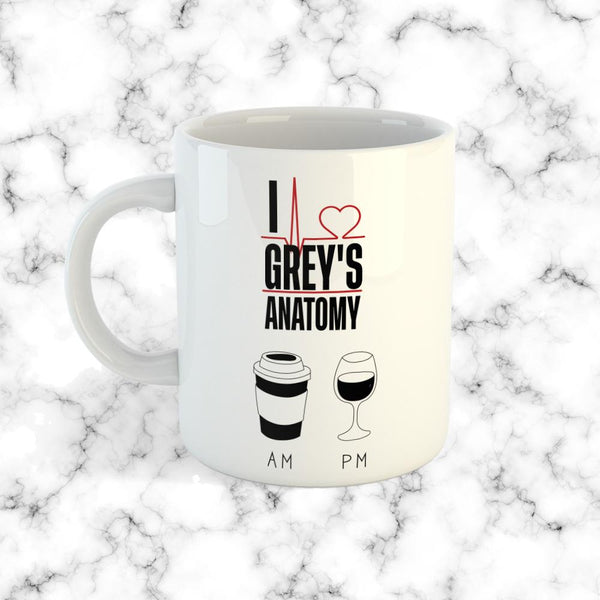 Taza Greys Anatomy AM PM - Space Store Chile