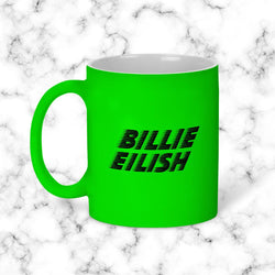 Taza Billie Eillish Verde Neon Model 1 - Space Store Chile