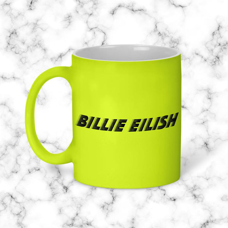 Taza Billie Eillish Amarillo Neon Model 1 - Space Store Chile