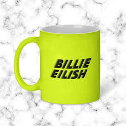Taza Billie Eillish Amarillo Neon Model 2