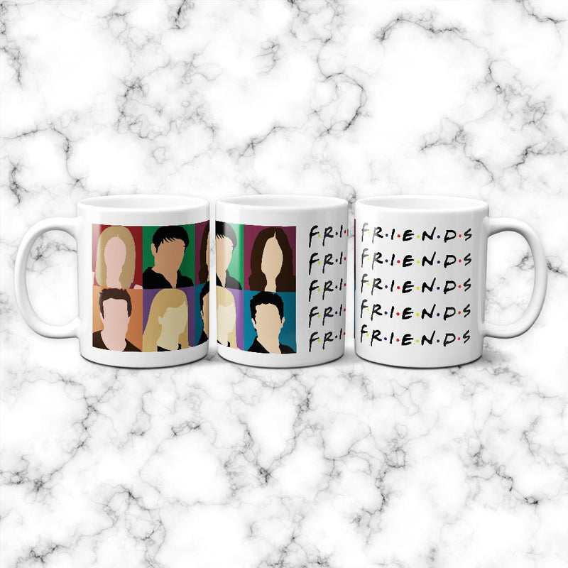 Taza Friends Faces