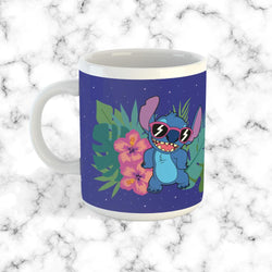 Taza Stitch & Leaves Blue - Space Store Chile