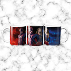 Taza Flash and Super Girl - Space Store Chile