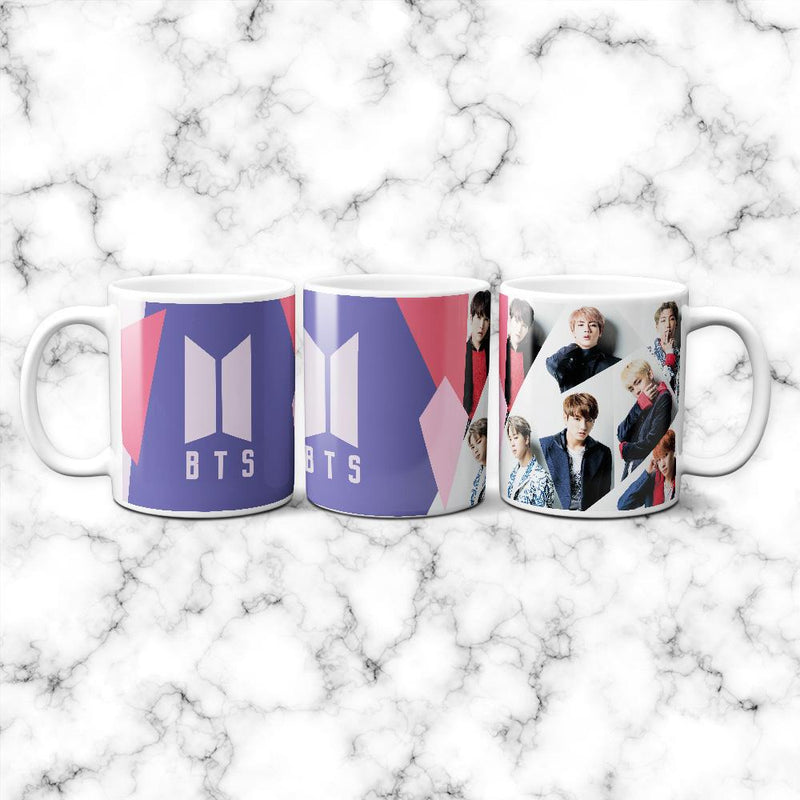 Taza BTS Lila - Space Store Chile
