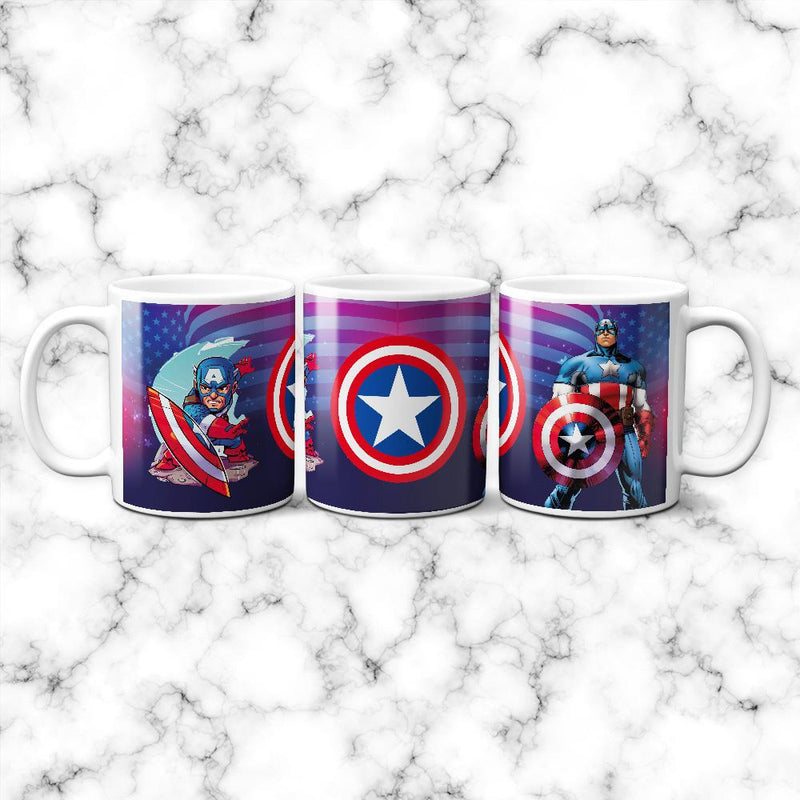 Taza Capitan America Animado - Space Store Chile