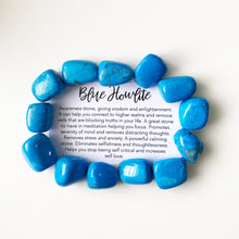 Load image into Gallery viewer, Blue Howlite Tumble Stone