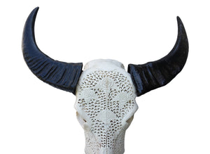 Carved Buffalo Lace Skull XLBF1