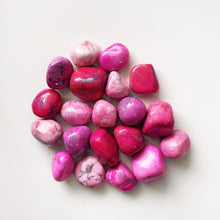 Load image into Gallery viewer, Pink Howlite Tumble Stone