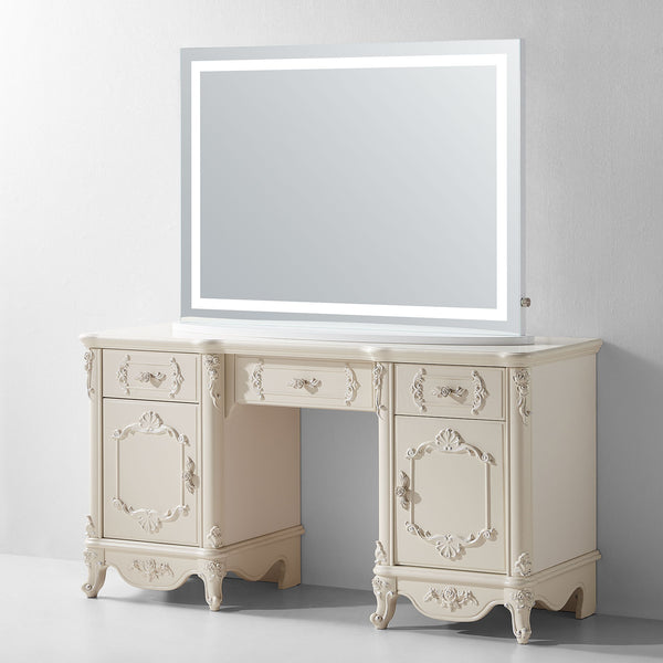 Lumen Lighted Tabletop Vanity Mirror - Modern Mirrors