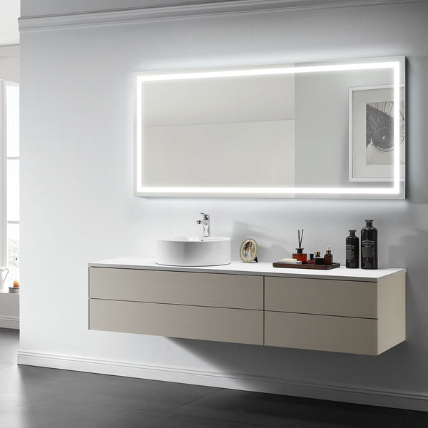 Aura Lighted Bathroom Vanity Mirror - Modern Mirrors