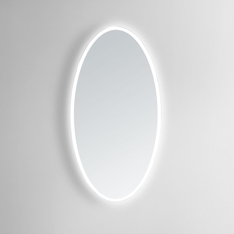 Aurora Oval Lighted Bathroom Vanity Mirror - Modern Mirrors