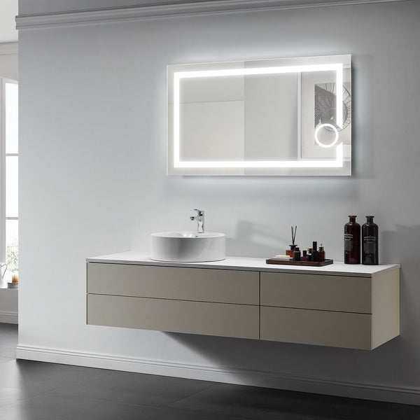 Iris Lighted Bathroom Vanity Mirror - Modern Mirrors