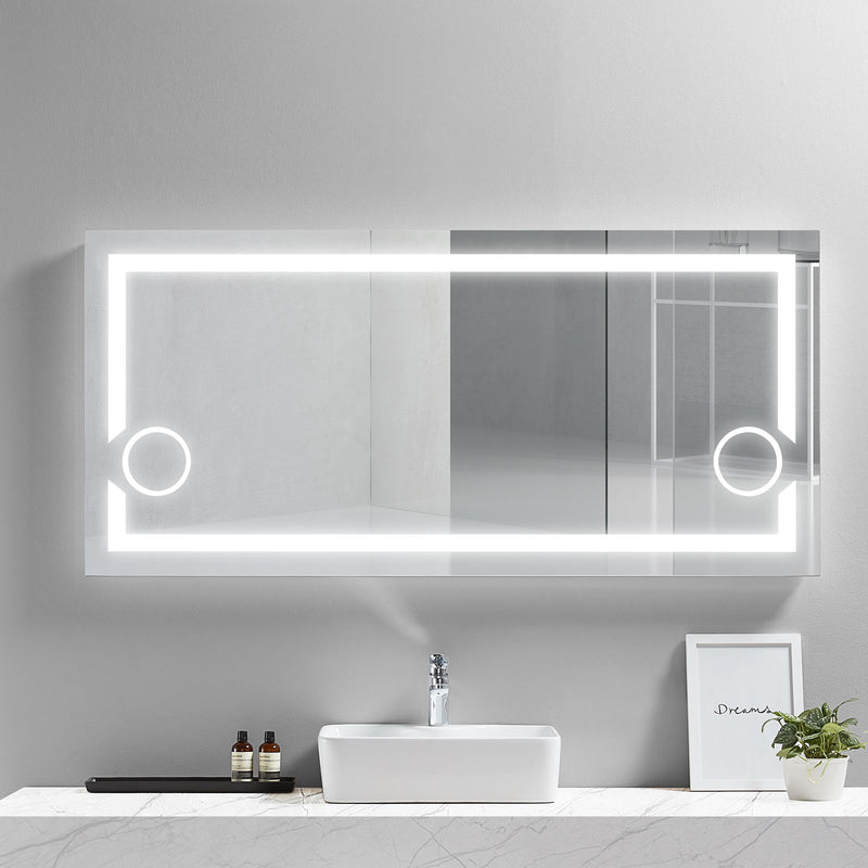 Gemini Lighted Bathroom Vanity Mirror - Modern Mirrors