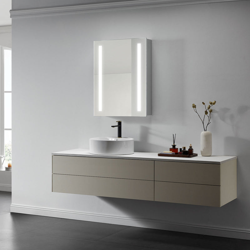 Lyra Lighted Bathroom Cabinet Vanity Mirror - Modern Mirrors
