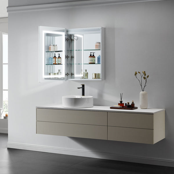 Europa I Lighted Bathroom Cabinet Vanity Mirror - Modern Mirrors