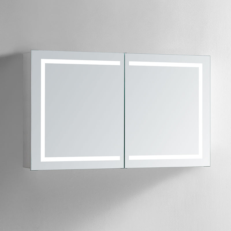 Europa II Lighted Bathroom Cabinet Vanity Mirror - Modern Mirrors