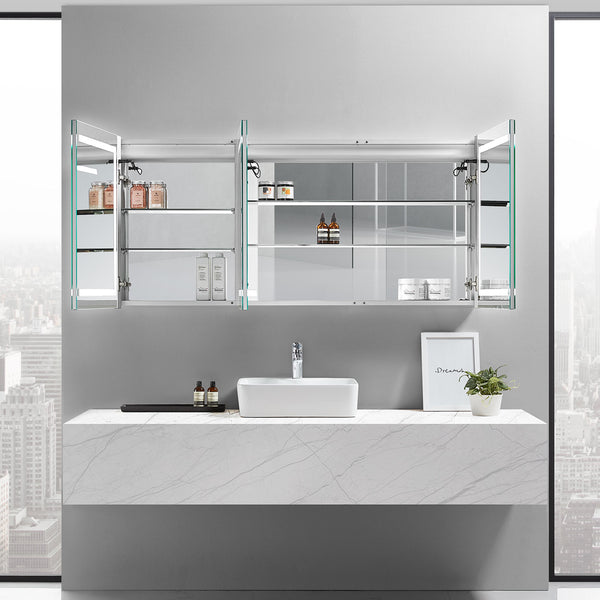 Europa III Lighted Bathroom Cabinet Vanity Mirror - Modern Mirrors