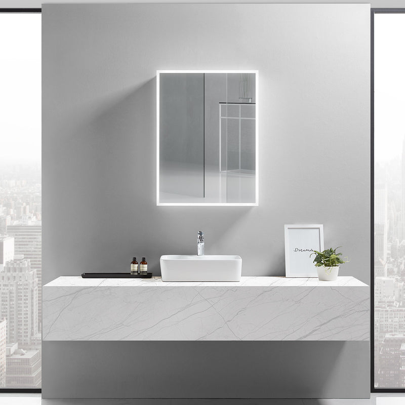 Cassini I Lighted Bathroom Cabinet Vanity Mirror - Modern Mirrors