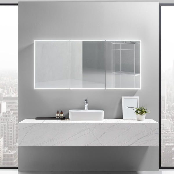 Cassini III Lighted Bathroom Cabinet Vanity Mirror - Modern Mirrors