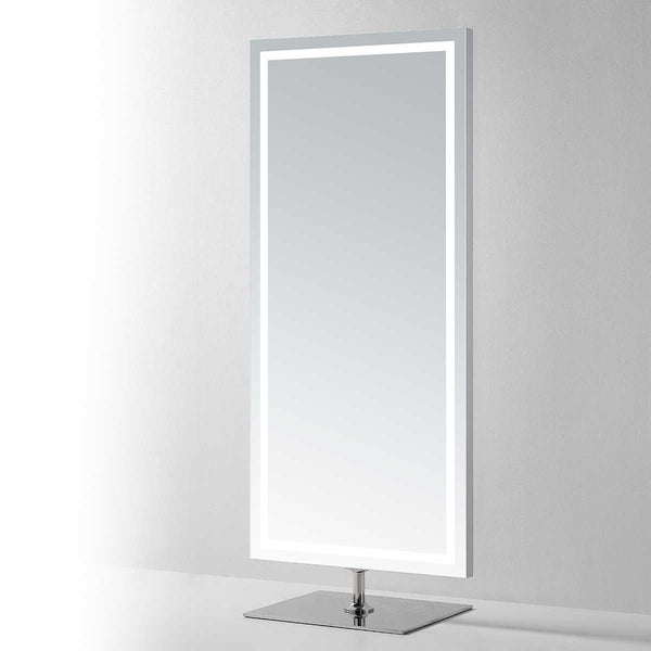 Nova Lighted Standing Full-Length Vanity Mirror - Modern Mirrors