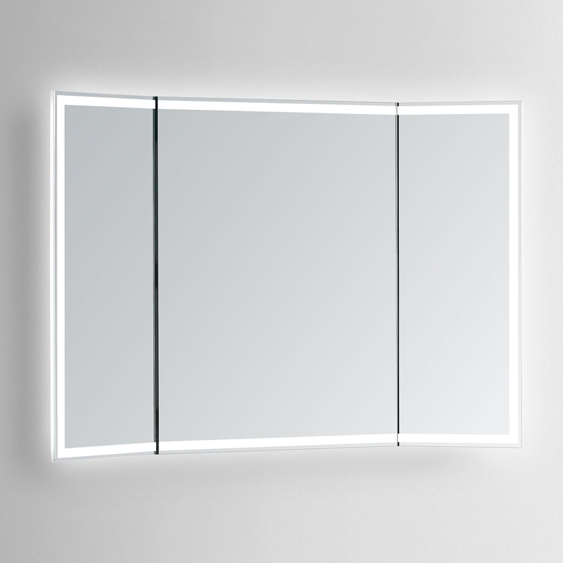 Stella Trifold Lighted Bathroom Vanity Mirror - Modern Mirrors