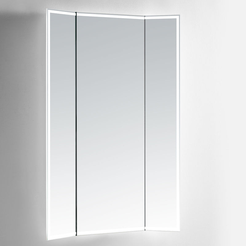 Celestia Lighted Full-Length Trifold Vanity Mirror - Modern Mirrors