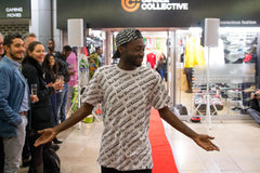 Circle Collective graduate walks the red carpet at the fashion show event